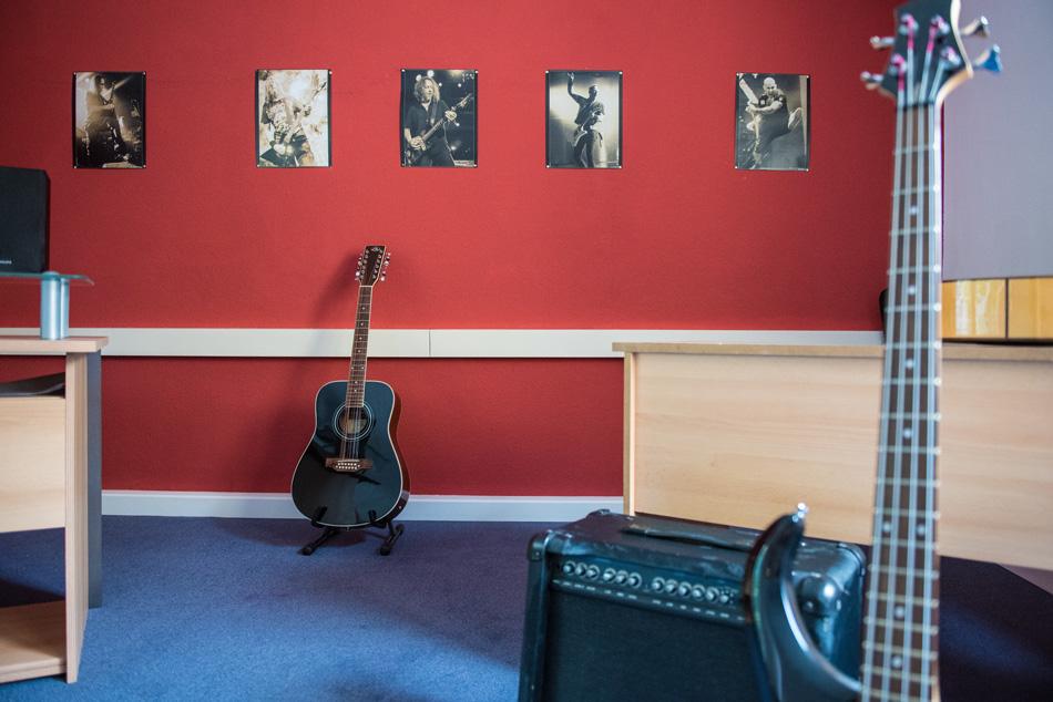 Die Räume der School auf Music Kulmbach